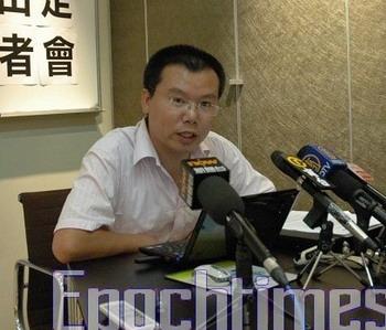 Чу Минвэй на пресс-конференции в Гонконге. Фото: Сунь Чинтянь. Великая Эпоха (The Epoch Times)