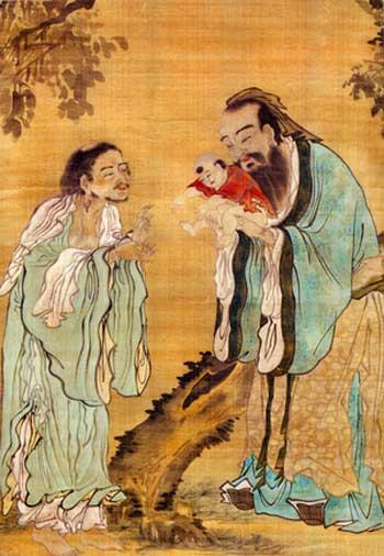 Конфуций и Лао Цзи. культура Китая, китайская культура, история Китая