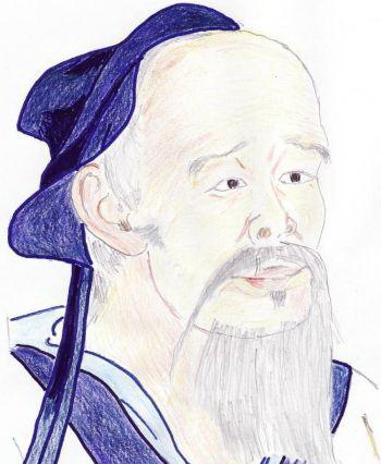Хуа То просил, чтобы мысли людей следовали законам Небес и Земли. (Из живописи)