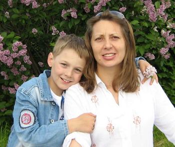 Катерина и старший сын - Саша. Фото предоставлено семьей Кузьминых