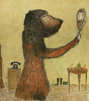Картина 'Катя в костюме медведя' Александра  Войцеховского. Фото: Великая Эпоха
