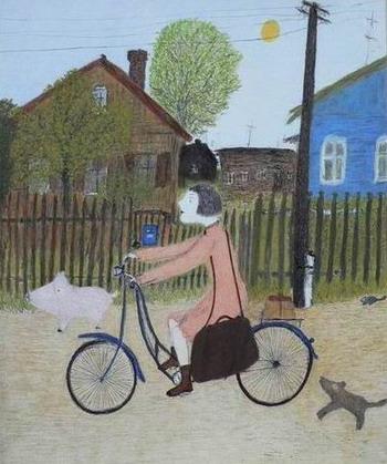 Картина 'Лиза Ножкина – почтальон' Александра  Войцеховского. Фото: Великая Эпоха