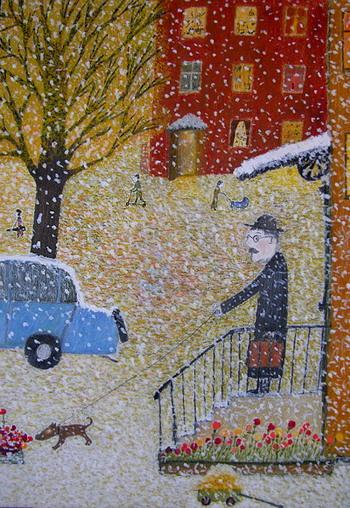 Картина 'Первый снег' Александра Войцеховского. Фото: Великая Эпоха