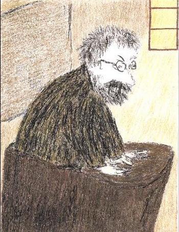 Картина «Макс Планк читает лекцию в Берлине в 1925 году.» Александра Войцеховского. Фото: Великая Эпоха