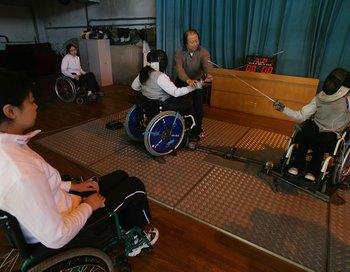 Фехтовальщики-инвалиды. Фото: Andrew Wong/Getty Images