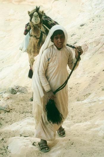 Бедуины в одежде паломников поднимаются на гору Синай. Фото предоставлено автором Bernd Kregel  Epoch Times Deutschland