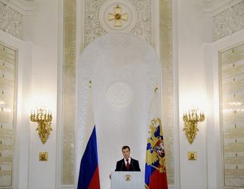 Д Медведев о культуре и образовании. Фото: NATALIA KOLESNIKOVA/AFP/Getty Images