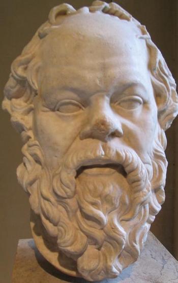 Портрет Сократа в Лувре, сделанный скульптором римской эпохи. Фото с saga.ua