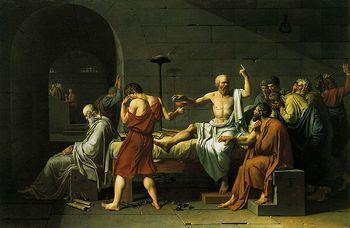 Жак-Луи Давид. «Смерть Сократа». Фото с saga.ua