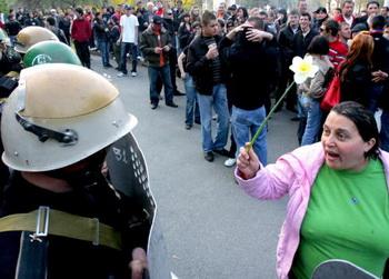 Апрельские события в Кишиневе. Фото: VIKTOR DRACHEV/AFP/Getty Images