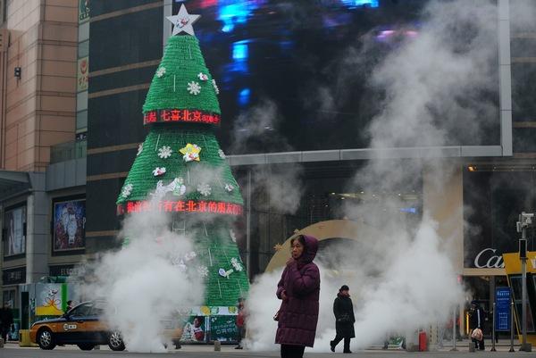 Самые высокие и красивые елки в мире. В Китае. Пекин. Фото: Feng Li/Getty Images
