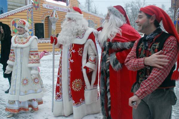 В гостях у деда мороза в московской