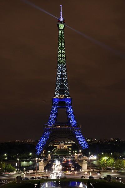 120-летие Эйфелевой башни. Световое шоу/BERTRAND GUAY/Getty Images