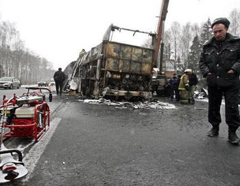 Автокатастрофа в Кабардино-Балкарии: есть жертвы.  Фото: DMITRY KOSTYUKOV/AFP/Getty Images
