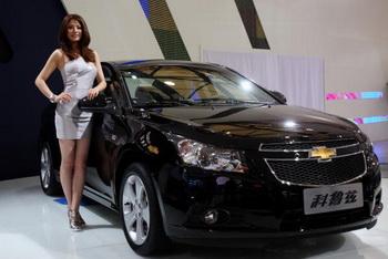 Chevrolet Cruze на выставке в Шанхае. Фото: Feng Li/Getty Images