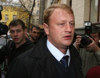 Алексей Дымковский провёл пресс-конференцию в Москве. Фото: Alexey SAZONOV/AFP/Getty Images