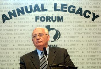 Михаил Горбачёв –председатель Всемирной организации «Зелёный Крест». Фото: DAVID SCULL/AFP/Getty Images