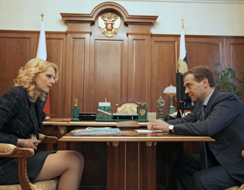 Министр здравоохранения РФ Татьяна Голикова сообщила о пересмотре прожиточного минимума  в 2010 году. Фото: ДМИТРИЙ АСТАХОВ / AFP / Getty Images