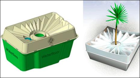 Такие коробки можно изготавливать из подручных средств, например, картона или дешевого пластика  Фото: Би-би-си