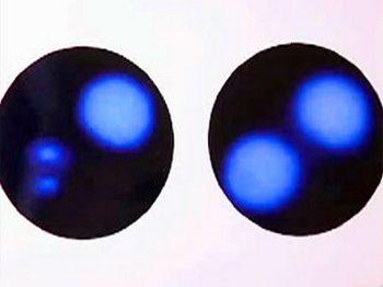 Вот так выглядит мельчайшая частица химического элемента. Фото: Подробности