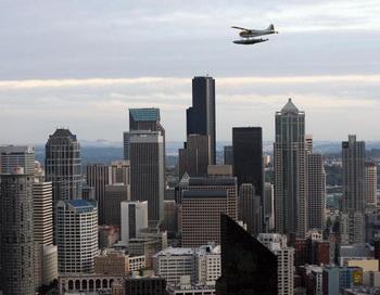 Рабочий  район Сиэтла, вид из «Спейс Нидл», 30 сентября 2006 г. Фото: Gabriel Bouys/AFP/Getty Images