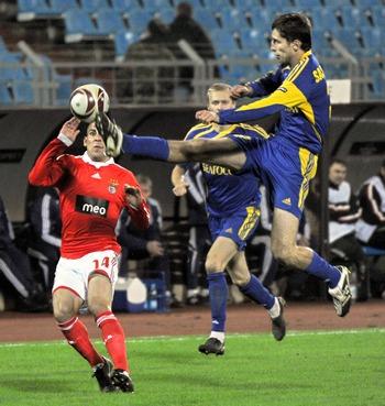 Матч УЕФА Лиги Европы в Минске. Фото:  VIKTOR DRACHEV/AFP/Getty Images