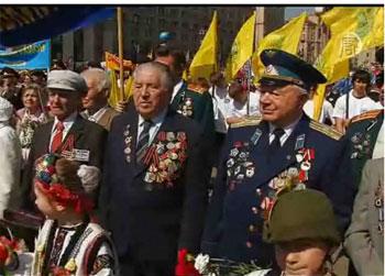 Украина отмечает 65 годовщину освобождения от нацистских захватчиков. Фото: president.gov.ua