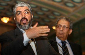 Палестинский лидер организации Хамас Кэйлд Мэшл выступает на объединенной пресс-конференции в Каире, 9 июня 2009 г. Фото: Cris Bouroncle /AFP /Getty Images