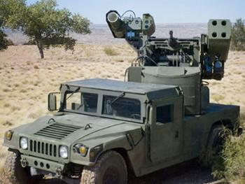 Laser Avenger на базе бронемашины Humvee