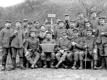 Германские солдаты во время Первой Мировой войны