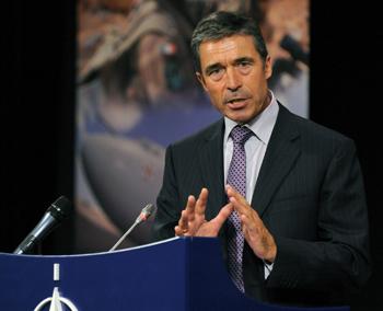 Генеральный секретарь НАТО Андерс Фог Расмуссен. Фото: JOHN THYS/AFP/Getty Images