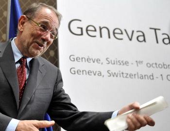 Верховный представитель ЕС по общей внешней политике и политике безопасности Хавьер Солана. Фото: FABRICE COFFRINI/AFP/Getty Images