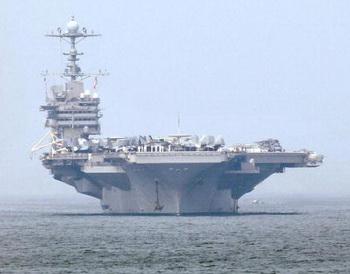 Авионосец ВМС США Джорж Вашингтон. Фото: JAY DIRECTO/AFP/Getty Images