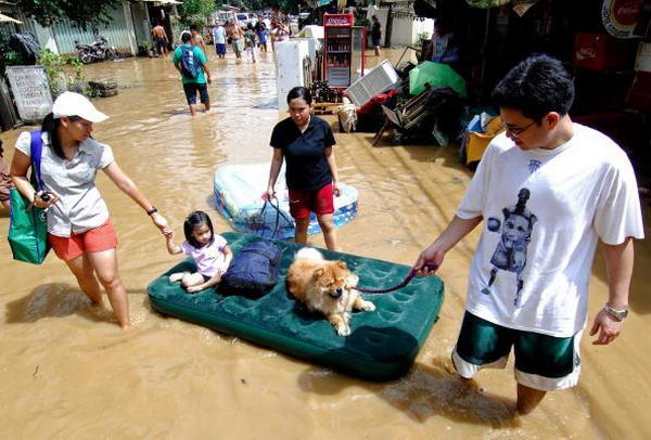 После урагана в городе Пассик на Филлипинах в Маниле  (29.09.2009).   Фото: NOEL CELIS/AFP/Getty Images