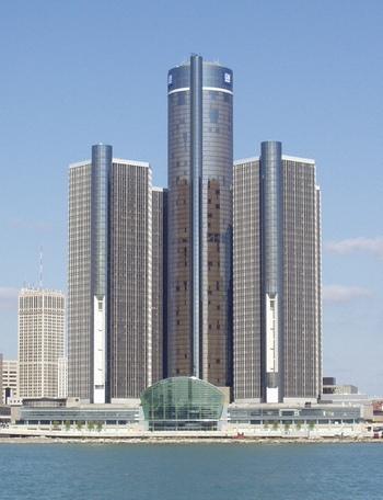 Штаб-квартира GM в Детройте Автор фото Flibirigit/ ru.wikipedia.orп