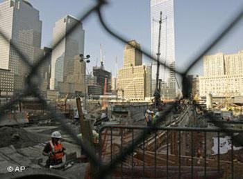 На месте терактов 11 сентября в Нью-Йорке.