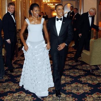 На банкете в честь Нобелевской премии. Фото: LISE ASERUD/AFP/Getty Images