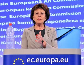 Комиссар ЕС по антимонопольной политике Нелли Крус (Neelie Kroes). Фото: GEORGES GOBET/AFP/Getty Image