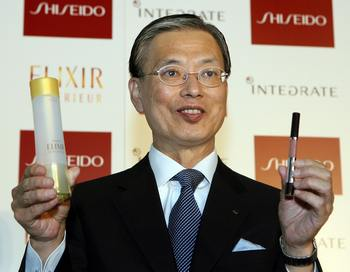 Президент косметической корпорации Shiseido Шинзо Маеда. Фото: TORU YAMANAKA/AFP/Getty Images