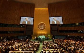 «Целью Саммита по проблеме изменения климата, который я созываю  22 сентября, является мобилизация политической воли и взглядов, необходимых для достижения масштабного и научно обоснованного результата на переговорах ООН по климату в Копенгагене». - Генеральный секретарь ООН Пан Ги Мун.Фото: Rick Gershon/Getty Images