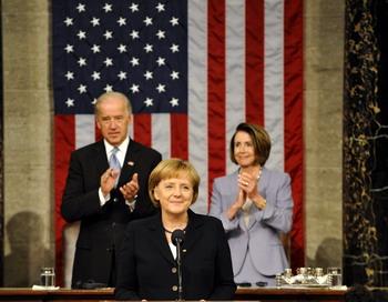 Канцлер Германии Ангела Меркель выступила в конгрессе США. Фото:Steffen Kugler-Pool/Getty Images