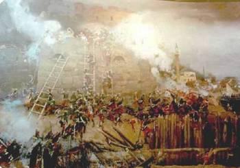 Штурм турецкой крепости Измаил русскими войсками под командованием Александра Васильевича Суворова. Фото с сайта  wapedia.mobi