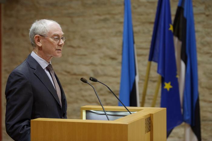 Президент Европейского союза бельгиец Херман Ван Ромпей. Фото: RAIGO PAJULA/AFP/GettyImages