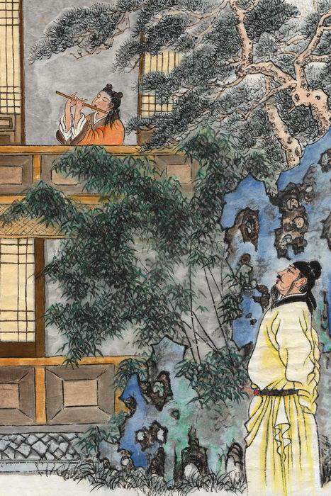 Ли Мо - талантливый музыкант династии Тан. Иллюстрация: Джейк Ку/Великая Эпоха (The Epoch Times)