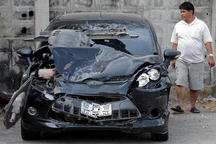 В Таиланде в ДТП погибли двое британских велосипедистов, совершавших кругосветное путешествие. Фото: PORNCHAI KITTIWONGSAKUL/AFP/