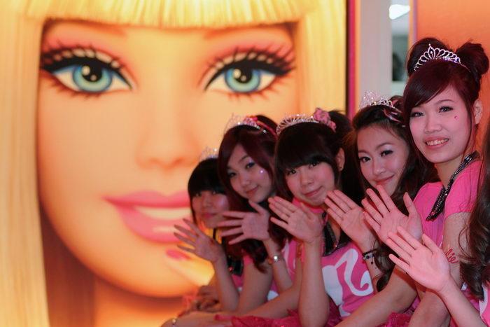 Барби-кафе открыли в Тайбэе. Фото: SAM YEH/AFP/Getty Images