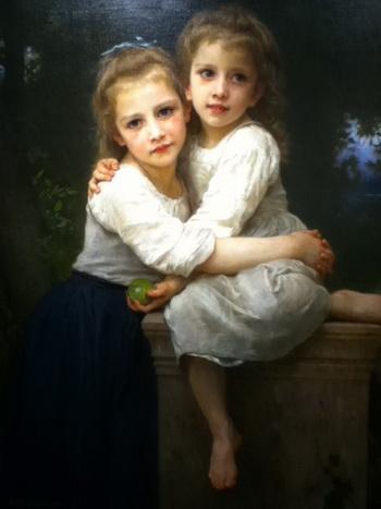 Французский художник Бугро (1825-1905) придерживался традиционной техники и тем, поэтому его часто презирали и замалчивали в мире модернизма. Вильям-Адольф Бугро (Bouguereau) «Две сестрички», масло, холст, 1901г. Фото: Trout Museum