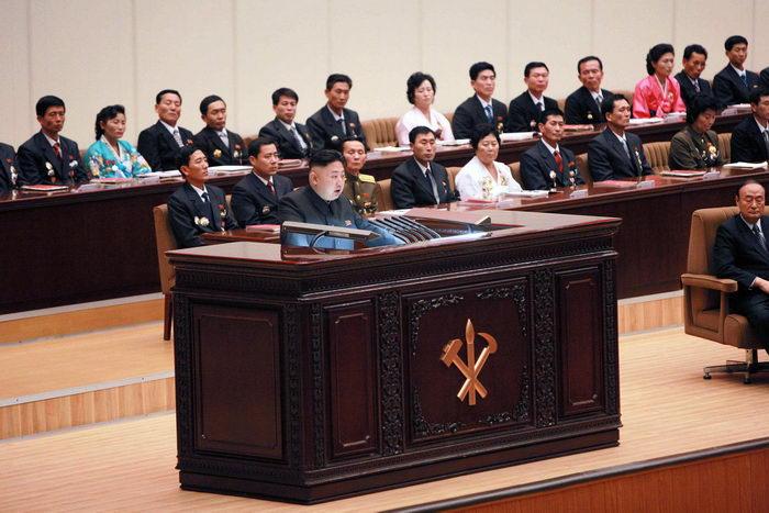 Лидер Северной Кореи Ким Чен Ын. Фото: KNS/AFP/Getty Images