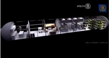 Проект разработанного жилого пространства на Марсе. Фото: Screenshot/NTD Television