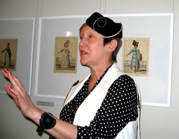 Марина Седова в шляпке «плакетка». Фото: Татьяна Петрова/Великая Эпоха (The Epoch Times)